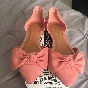 Blush pink flats